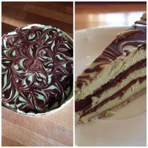 Schoko-Minz-Cheesecake